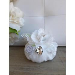 Sacchetto Puff con Fiore Bianco