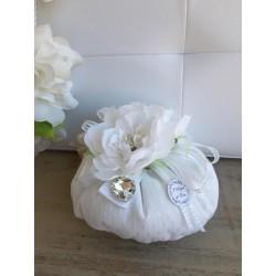 Sacchetto Puff Grande con Fiore Bianco