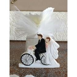 Segnaposto Calamita Sposi in Bici