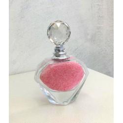 Profumatore Bottiglia Diamante Tappo Swarovski Rosa